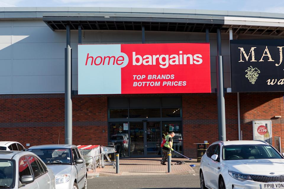 The Home Bargains store in Worcester where the attack took place (SWNS)