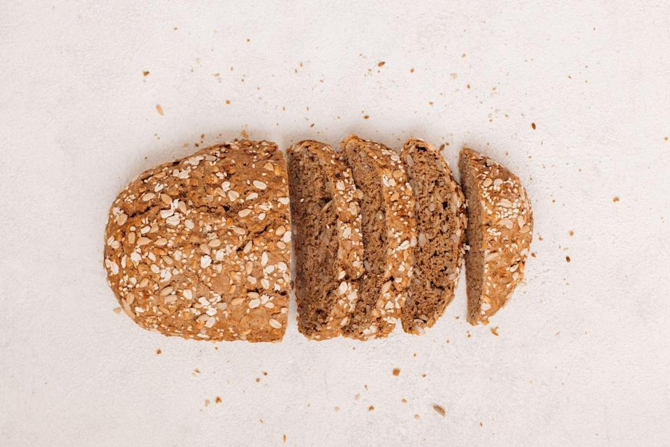 <p><strong>Sprouted grain bread is packed with healthy nutrients and dietary fiber</strong> which has been shown to provide several heart healthy benefits. It has a nutty flavor and great texture that adds personality to any snack or sandwich.</p>