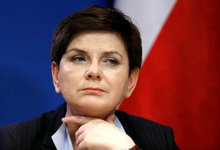 FILE PHOTO: Poland's Prime Minister Beata Szydlo holds a news conference at the end of a European Union leaders summit in Brussels, Belgium, March 10, 2017.   REUTERS/Yves Herman/File Photo