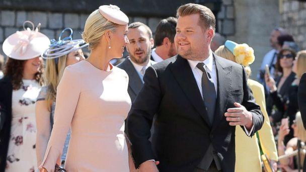PHOTO: James Corden and Julia Carey arrive at St George's Chapel at Windsor Castle for the wedding of Meghan Markle and Prince Harry in Windsor, Britain, May 19, 2018. (Gareth Fuller/Reuters)