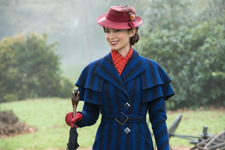 """<p>In this recent new sequel to the <a href=""""https://www.amazon.com/Mary-Poppins-Anniversary-Julie-Andrews/dp/B004LLDN3A/ref=sr_1_1?keywords=mary+poppins&qid=1579202237&s=instant-video&sr=1-1&tag=syn-yahoo-20&ascsubtag=%5Bartid%7C10055.g.23406794%5Bsrc%7Cyahoo-us"""" rel=""""nofollow noopener"""" target=""""_blank"""" data-ylk=""""slk:1964 original"""" class=""""link rapid-noclick-resp"""">1964 original</a>, our favorite magical nanny (Emily Blunt) returns 25 years after the events of <em>Mary Poppins</em> — and it's just as delightful as a spoonful of sugar. </p><p><a class=""""link rapid-noclick-resp"""" href=""""https://www.netflix.com/title/80221446"""" rel=""""nofollow noopener"""" target=""""_blank"""" data-ylk=""""slk:STREAM NOW"""">STREAM NOW</a><br></p>"""
