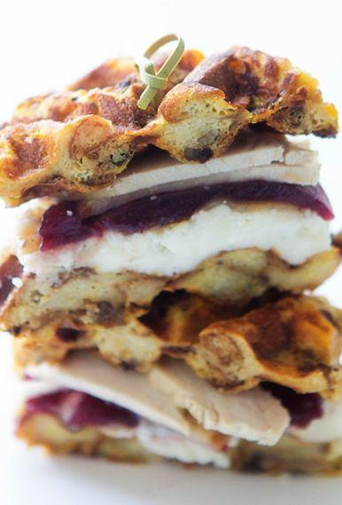 """<p>Now take those stuffing waffles and make a sandwich with them. You know you wanna ...</p><p><a href=""""http://realfoodbydad.com/turkey-and-waffles-thats-waffled-stuffing/"""" rel=""""nofollow noopener"""" target=""""_blank"""" data-ylk=""""slk:Get the recipe from Real Food by Dad »"""" class=""""link rapid-noclick-resp""""><em>Get the recipe from Real Food by Dad »</em></a></p>"""