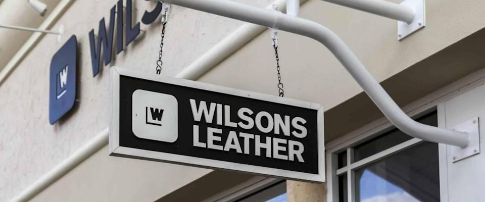 Orlando, Florida, USA- February 24, 2020:  Wilsons Leather store sign in Orlando, Florida.