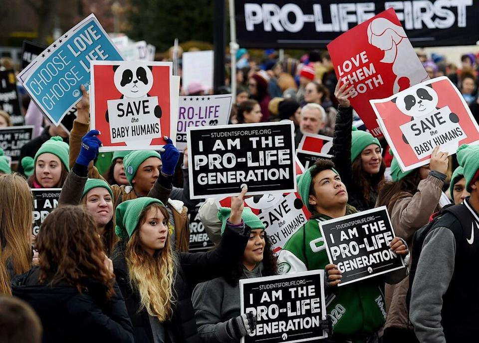 The 2019 March for Life rally in Washington, D.C. | OLIVIER DOULIERY/AFP via Getty Images