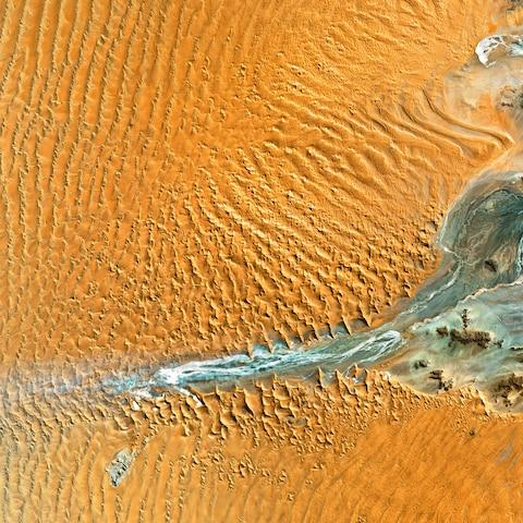 The Namib desert from above