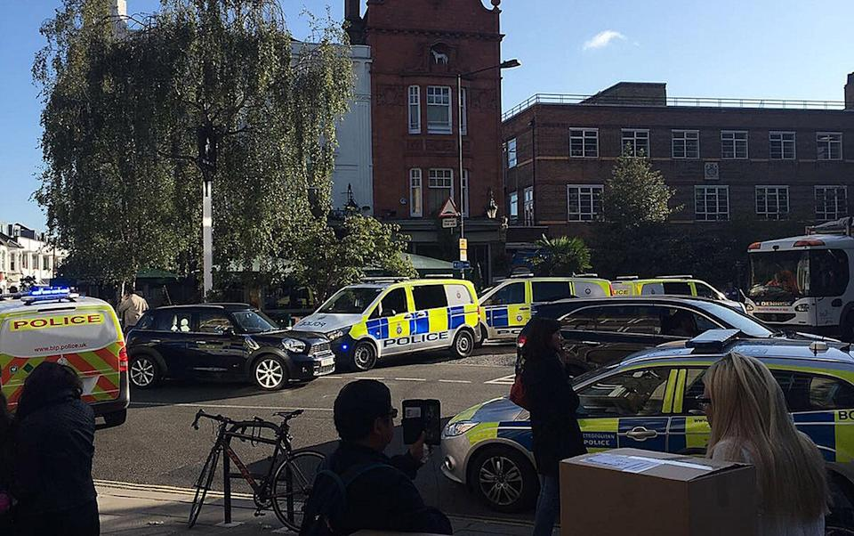 <p>The blast happened in an Underground carriage on the District Line in West London on Friday morning. (PA) </p>
