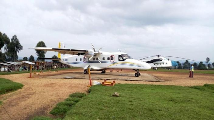 FILE PHOTO - A Dornier 228-200 plane operated by local company Busy Bee is seen at the Goma International airport in Goma
