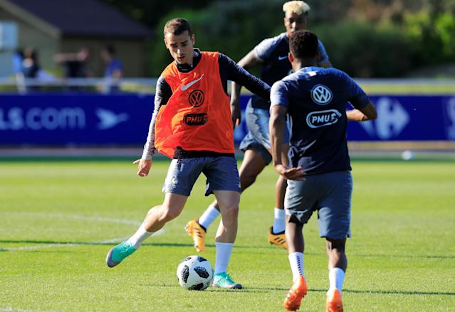 Soccer Football - FIFA World Cup - France Training - Domaine de Montjoye, Clairefontaine, France - May 24, 2018 France's Antoine Griezmann during training REUTERS/Gonzalo Fuentes
