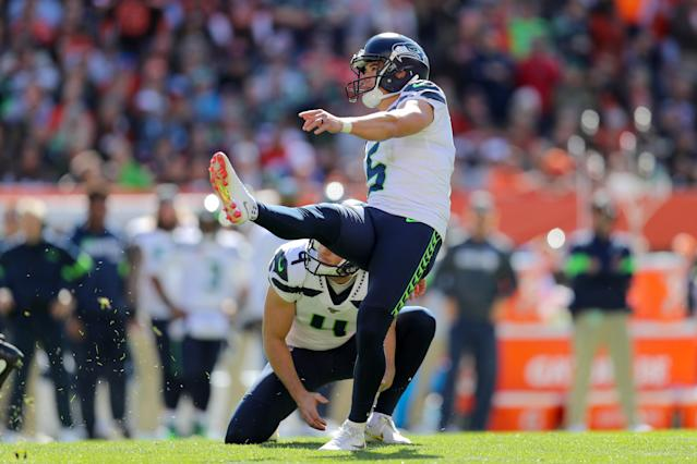 "<a class=""link rapid-noclick-resp"" href=""/nfl/players/28378/"" data-ylk=""slk:Jason Myers"">Jason Myers</a> is a top kicking option this week. (Photo by Frank Jansky/Icon Sportswire via Getty Images)"