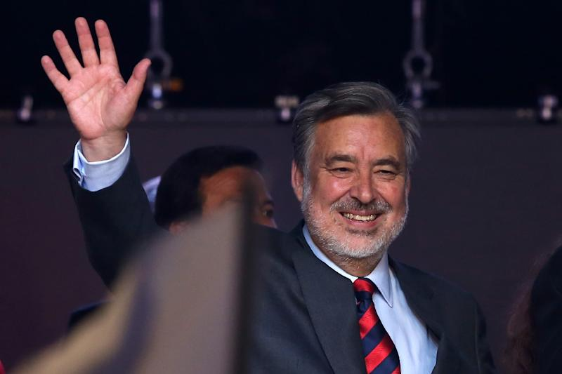 Chilean presidential candidate Alejandro Guillier is an independent supported by President Michelle Bachelet's Socialist party (AFP Photo/CLAUDIO REYES)