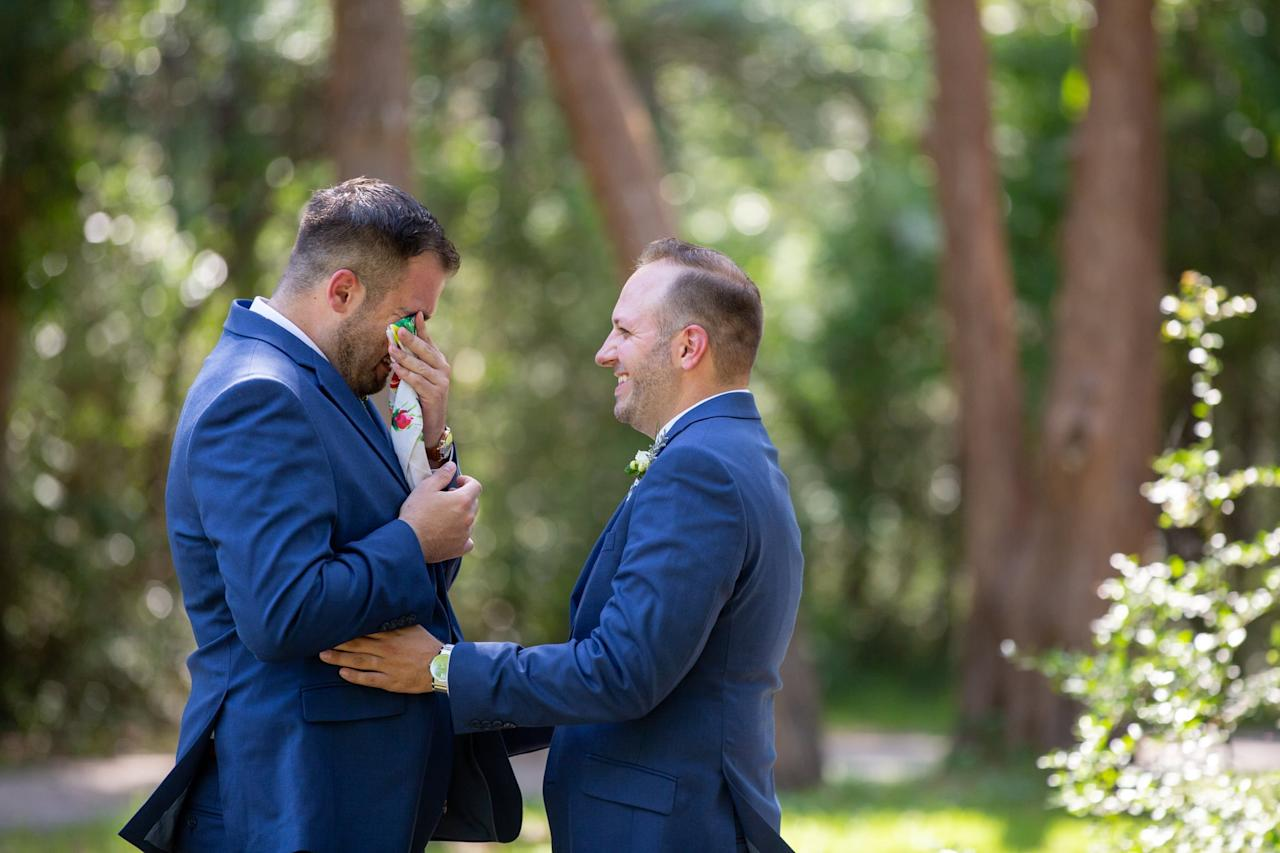 """<p>Zac and Shane love spending time in the outdoors, especially on the grounds of the Atalaya Castle in Huntington Beach State Park in South Carolina. The two decided to have their <a class=""""sugar-inline-link ga-track"""" title=""""Latest photos and news for wedding"""" href=""""https://www.popsugar.com/Wedding"""" target=""""_blank"""" data-ga-category=""""Related"""" data-ga-label=""""https://www.popsugar.com/Wedding"""" data-ga-action=""""&lt;-related-&gt; Links"""">wedding</a> at that precise location, where guests could join them their special day in a place they both love. <a href=""""https://www.popsugar.com/love/Wedding-Huntington-Beach-State-Park-South-Carolina-46266040"""" class=""""ga-track"""" data-ga-category=""""Related"""" data-ga-label=""""https://www.popsugar.com/love/Wedding-Huntington-Beach-State-Park-South-Carolina-46266040"""" data-ga-action=""""In-Line Links"""">See Zac and Shane's wedding here.</a></p>"""