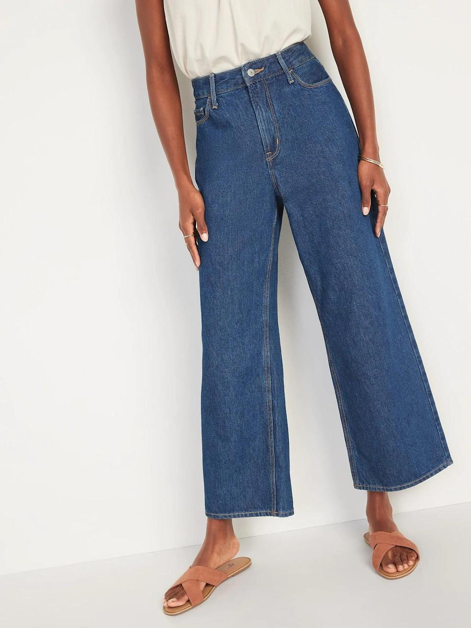<p>These <span>Old Navy Extra High-Waisted Wide-Leg Jeans</span> ($35, originally $40) are so comfortable and easy to style, but they still look elevated.</p>