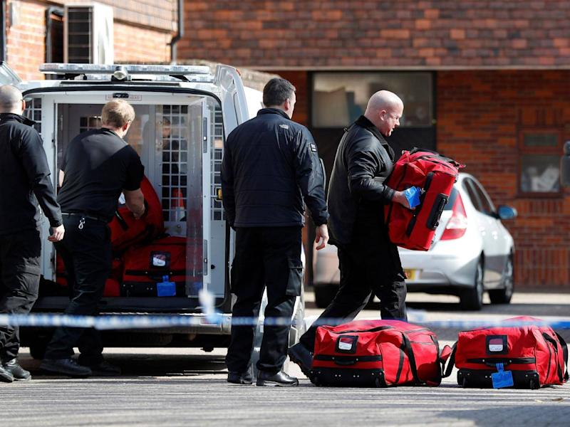 Inspectors from the Organisation for the Prohibition of Chemical Weapons (OPCW) arrive to begin work at the scene of the nerve agent attack (REUTERS/Peter Nicholls)