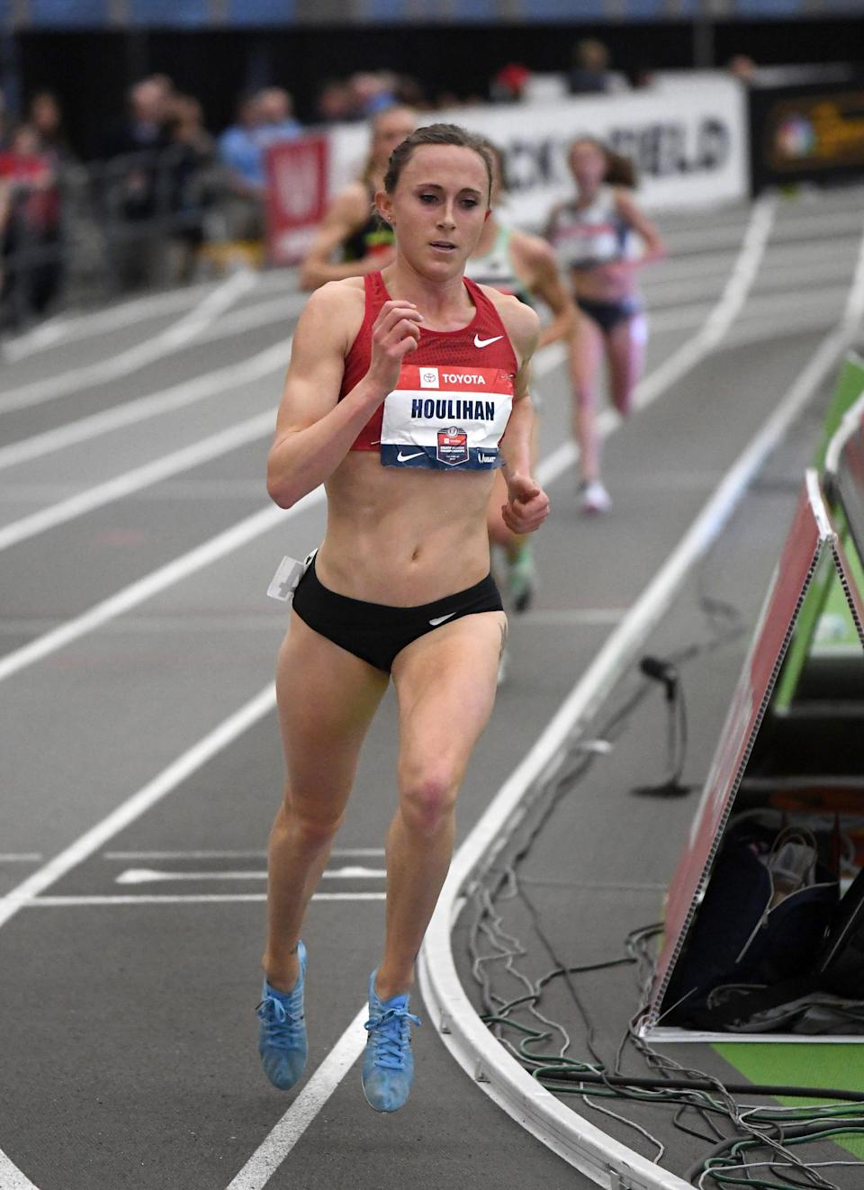American middle-distance runner Shelby Houlihan has been banned for four years after testing positive for an anabolic steroid that she believes came from pork in a burrito.