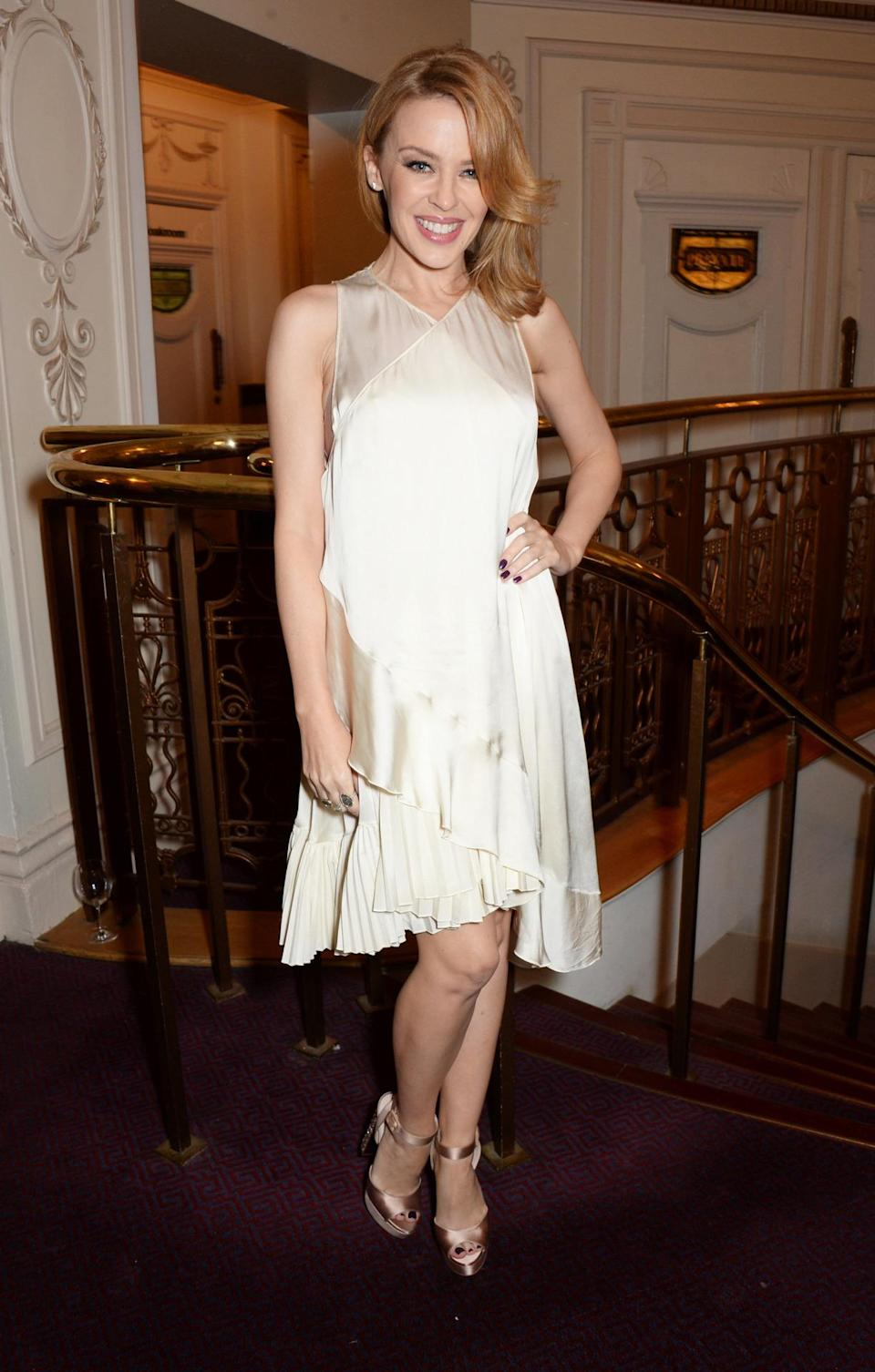Kylie Minogue, wearing a Stella McCartney silk dress, gave Preen the Establishment Award. Fitting, considering the singer is one herself.