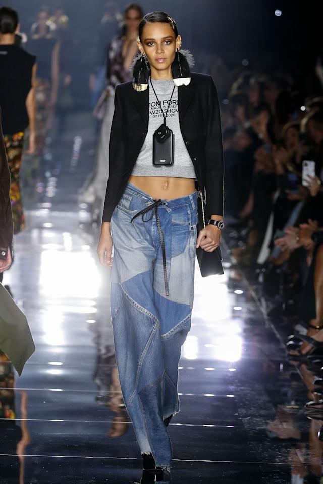 <p>On Friday night, Tom Ford presented his autumn/winter 2020 collection at Milk Studios in Los Angeles before a star-studded crowd that included Miley Cyrus, Kylie Jenner, and Jennifer Lopez. It was a precipitous start to Oscars weekend with red carpet looks aplenty. Will an Academy Award nominee pull Bella Hadid's double-bowed crystal gown straight from the runway for Sunday's ceremony? Chances are good. Click through to see every look and make your own predictions on who will be wearing Tom Ford for the big night.</p>