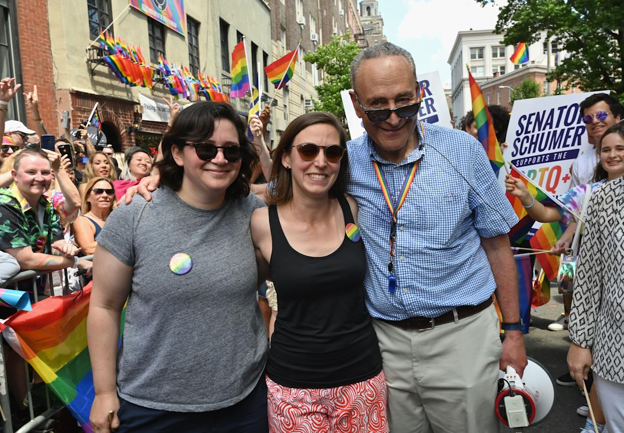 Just A Bunch Of Awesome Parents Supporting Their Kids During Pride