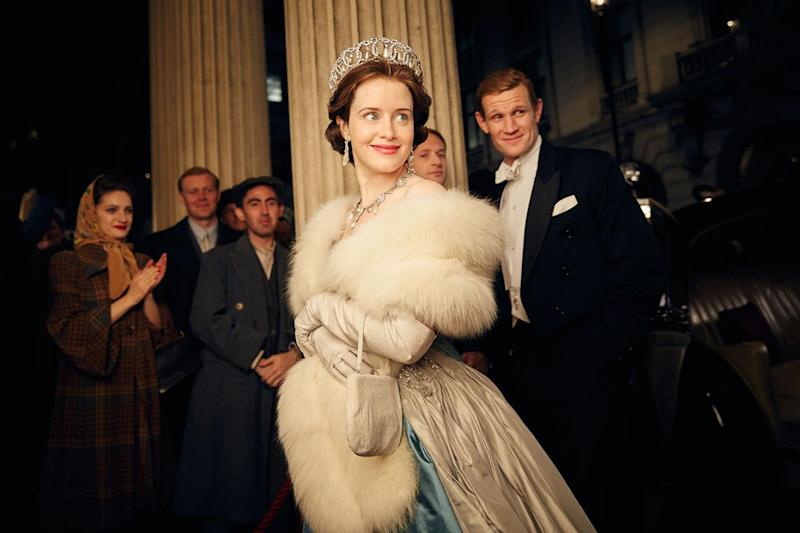 Royal: Foy abandoned her royal-approved look (Robert Viglasky/Netflix)