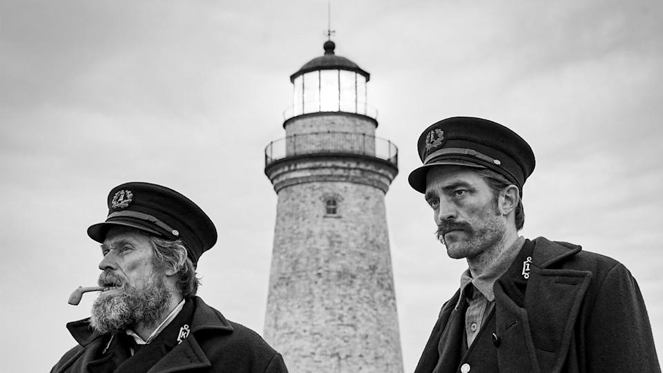 Willem Dafoe and Robert Pattinson in The Lighthouse (Credit: A24)