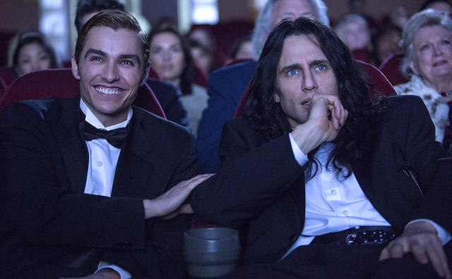 """<p><a href=""""https://www.yahoo.com/movies/tagged/james-franco"""" data-ylk=""""slk:James Franco"""" class=""""link rapid-noclick-resp"""">James Franco</a> directs, produces, and stars in this lovingly crafted dramatization of how <a href=""""https://www.yahoo.com/movies/tagged/tommy-wiseau"""" data-ylk=""""slk:Tommy Wiseau"""" class=""""link rapid-noclick-resp"""">Tommy Wiseau</a>'s legendarily awful 2003 movie <a href=""""https://www.yahoo.com/movies/film/the-room"""" data-ylk=""""slk:The Room"""" class=""""link rapid-noclick-resp""""><em>The Room</em></a> came to be. And so far, unlike their reaction to <em>The Room</em>, critics are loving it. 