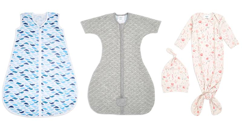 Baby brand aden + anais creates beautifully soft sleeping bags, swaddles and muslin cloths in addition to printed bodysuits. (aden + anais/Yahoo UK)