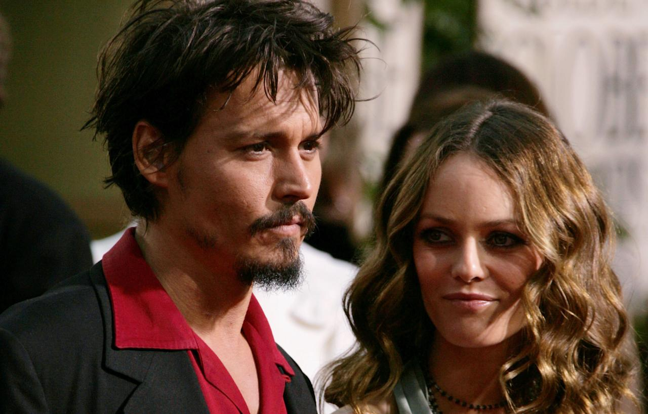 BEVERLY HILLS, CA - FILE:  (L-R) Actor Johnny Depp and Vanessa Paradis arrive to the 63rd Annual Golden Globe Awards at the Beverly Hilton on January 16, 2006 in Beverly Hills, California.  According to reports June 19, 2012 Johnny Depp and Vanessa Paradis have separated.  (Photo by Frazer Harrison/Getty Images)