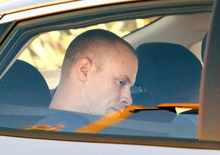 Bowe Bergdahl, who was demoted and dishonourably discharged from the U.S. Army for abandoning his post in Afghanistan, drives away from the courthouse at the conclusion of his court martial at Fort Bragg, North Carolina, U.S., November 3, 2017.  REUTERS/Jonathan Drake