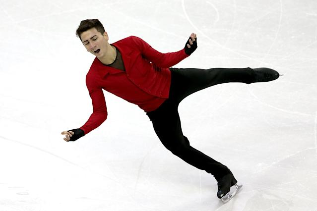OMAHA, NE - JANUARY 27: Max Aaron competes in the Men's Free Skate duringthe 2013 Prudential U.S. Figure Skating Championships at CenturyLink Center on January 27, 2013 in Omaha, Nebraska. (Photo by Matthew Stockman/Getty Images)
