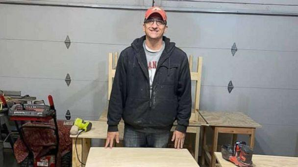 PHOTO: Nate Evans, a 7th grade literacy teacher from Ankeny, Iowa, launched the project he calls Woodworking with a Purpose. (Nate Evans)