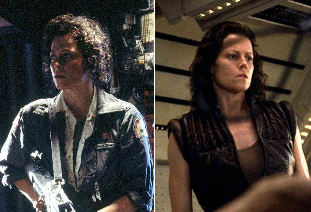 """FIRST MOVIE: <a href=""""http://movies.yahoo.com/movie/1800020133/info"""">Alien</a> (1979)  LATEST MOVIE: <a href=""""http://movies.yahoo.com/movie/1800020135/info"""">Alien Resurrection</a> (1997)   Ripley died at the end of 1992's """"Alien 3,"""" but she came back as a clone in the fourth movie."""
