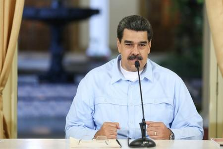 Venezuela's President Nicolas Maduro takes part in a meeting with members of the government at Miraflores Palace in Caracas