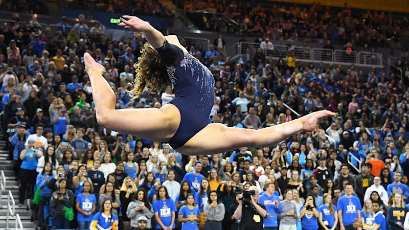 Katelyn Ohashi became famous for her perfect 10 routine.