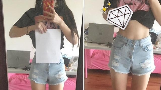 Social Media Trend Compares Waist Size to Sheet of Paper