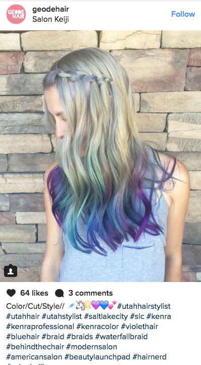 """""""Geode Hair"""" Is the New Rainbow Shade You're About to See Everywhere"""
