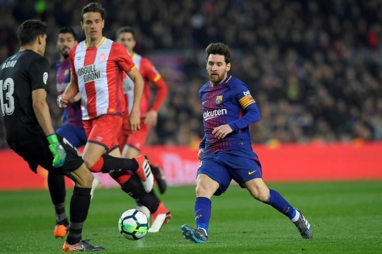 Lionel Messi and Barcelona could face local rivals Girona stateside in January