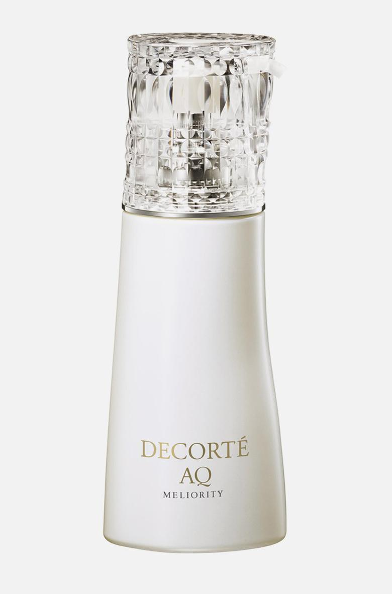 """<p>""""I love the feeling of this cleanser. I can build up a great foam and massage my skin during my daily face washes. It's gentle, but does the work to get rid of all the debris and makeup from long days on set.""""</p> <p><strong>Buy It! </strong>Decorté AQ Meliority Radiance Repair Foaming Face Wash, $95; <a href=""""https://decortecosmetics.com/products/aq-meliority-radiance-repair-foaming-face-wash"""" rel=""""sponsored noopener"""" target=""""_blank"""" data-ylk=""""slk:decorte.com"""" class=""""link rapid-noclick-resp"""">decorte.com</a></p>"""