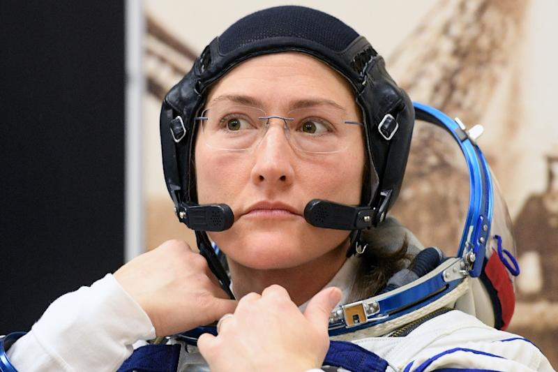 Also currently in the ISS is Christina Koch,who will soon beat the record for the longest time a woman has been in space, at 11 months (AFP Photo/Kirill KUDRYAVTSEV)