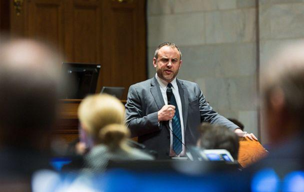PHOTO: Wisconsin Representative Gordon Hintz (D-Oshkosh) addresses the Assembly during a contentious legislative session, Dec. 4, 2018 in Madison, Wis. (Andy Manis/Getty Images, FILE)