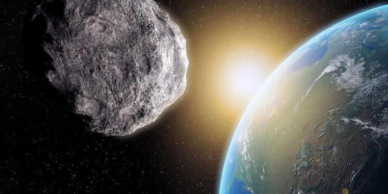 A giant asteroid nicknamed 'The Rock' is set to swing by Earth today