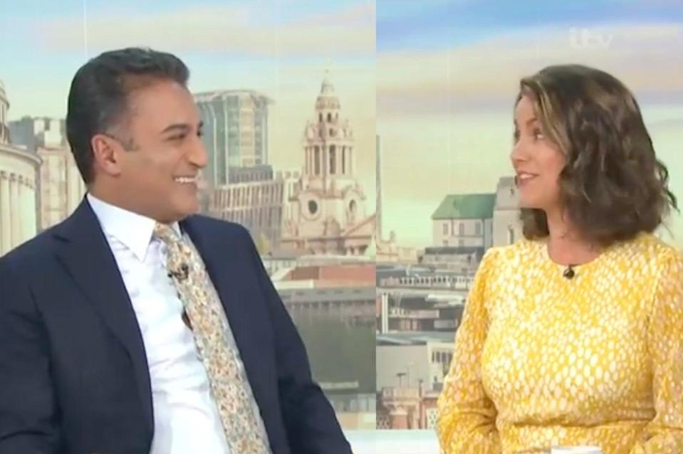 Susanna Reid rejects hug from Adil Ray on Good Morning Britain show (GMB)
