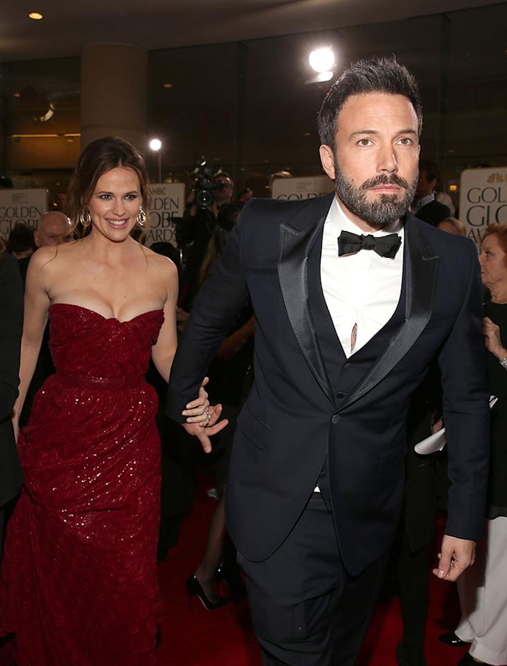 Jennifer Garner and Ben Affleck arrive to the 70th Annual Golden Globe Awards held at the Beverly Hilton Hotel on January 13, 2013.
