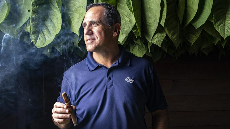 Padron's President Jorge Padron enjoys a Family Reserve cigar at the Cigar Padron factory Nicaragua.