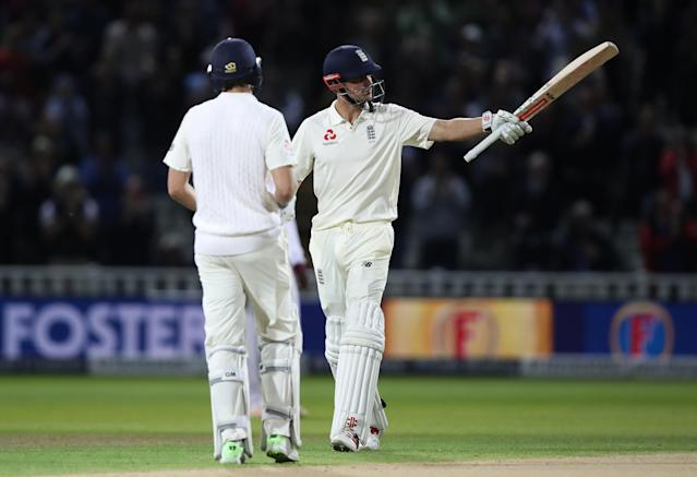 <p>Cook marked the first day/night Test match in this country with another double-hundred, this time against the West Indies. (Getty Images) </p>