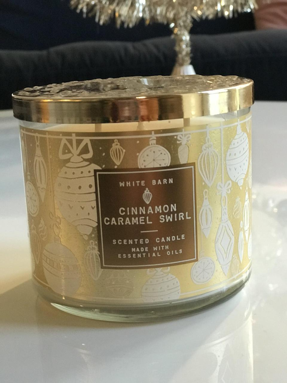 <p><span>Cinnamon Caramel Swirl 3-Wick Candle</span> ($15, originally $25)</p> <p><strong>What It Smells Like:</strong> If cinnamon and caramel got married and had the sweetest little child.</p>