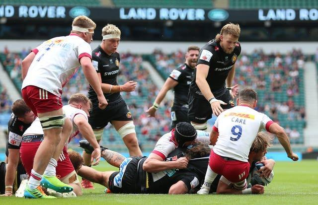 Jonny Gray powered over to get Exeter on the scoreboard