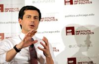 Pete Buttigieg is the two-term mayor of his hometown of South Bend, Indiana (AFP Photo/Joshua Lott)