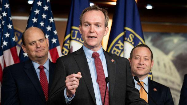PHOTO: Rep. Ben McAdams speaks DURING press conference in Washington, Feb. 11, 2020. (Barcroft Media via Getty Images, FILE)