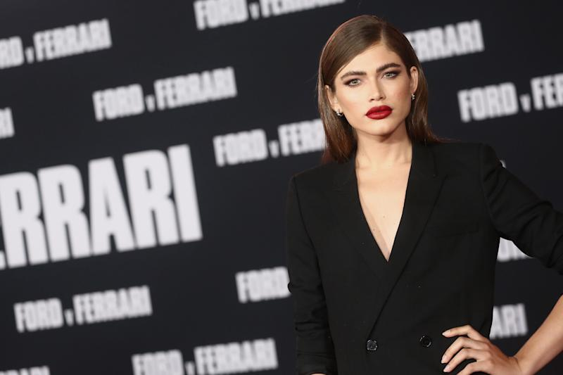 "HOLLYWOOD, CALIFORNIA - NOVEMBER 04: Valentina Sampaio attends the Premiere Of FOX's ""Ford V Ferrari"" at TCL Chinese Theatre on November 04, 2019 in Hollywood, California. (Photo by Tommaso Boddi/WireImage)"