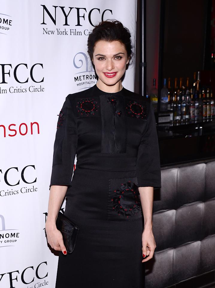 NEW YORK, NY - JANUARY 07:  Actress Rachel Weisz attends the 2012 New York Film Critics Circle Awards at Crimson on January 7, 2013 in New York City.  (Photo by Stephen Lovekin/Getty Images)