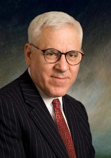 FILE - This undated file photo released by The Carlyle Group shows David M. Rubenstein of the Carlyle Group equity firm. A $10 million gift from a Washington philanthropist is poised to transform Monticello by helping visitors see the full plantation, including its history with slavery. Rubenstein, the co-CEO of The Carlyle Group private equity firm, is announcing one of the largest gifts ever for Monticello. It will fund the reconstruction of Mulberry Row, the community where slaves and workers lived on the Virginia plantation. Monticello officials plan to rebuild at least two log buildings where slaves worked and lived. (AP Photo/The Carlyle Group, File ) NO SALES